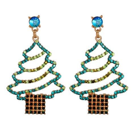 Christmas fashion cartoon diamond earrings  NHJJ286118's discount tags