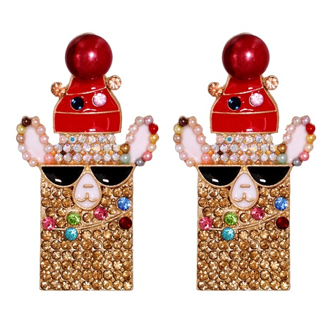 Christmas Fashion Elk Snowman Santa Earrings  NHJJ286127's discount tags