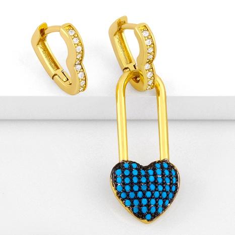 asymmetrical diamond fashion heart earrings NHAS286137's discount tags