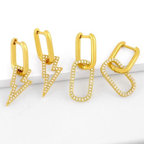 einfache Diamantohrringe NHAS286149's discount tags
