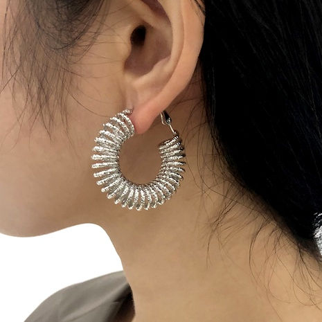 retro spiral pattern earrings NHMD286158's discount tags