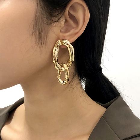 simple metal earrings  NHMD286159's discount tags