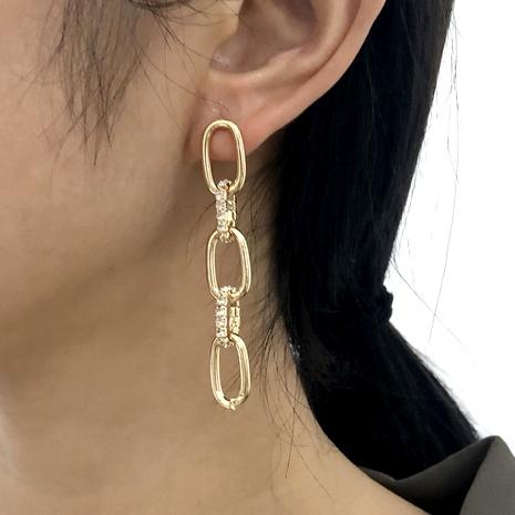 diamond retro earrings NHMD286165's discount tags