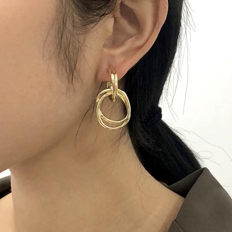 retro circle earrings NHMD286168's discount tags
