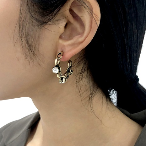 Baroque retro C-shaped fashion diamond earrings NHMD286169's discount tags