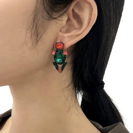 Baroque retro full diamond earrings NHMD286170's discount tags