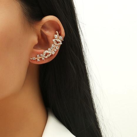 retro diamond-set ear clips NHKQ286198's discount tags