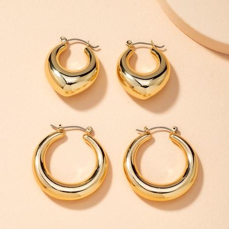 simple hollow circle earrings  NHAI286233's discount tags