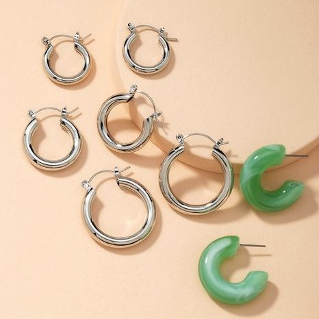 fashion metal emerald retro earrings wholesale NHAI286240's discount tags