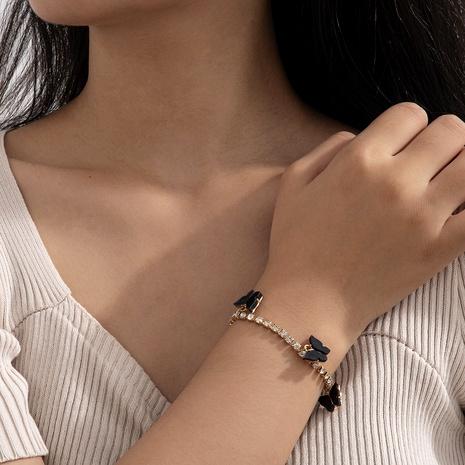 bracelet de mode papillon diamant gland NHXR286245's discount tags