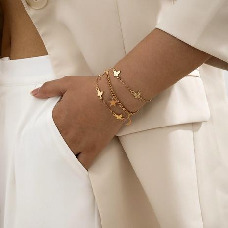 simple star moon butterfly bracelet set NHXR286257's discount tags