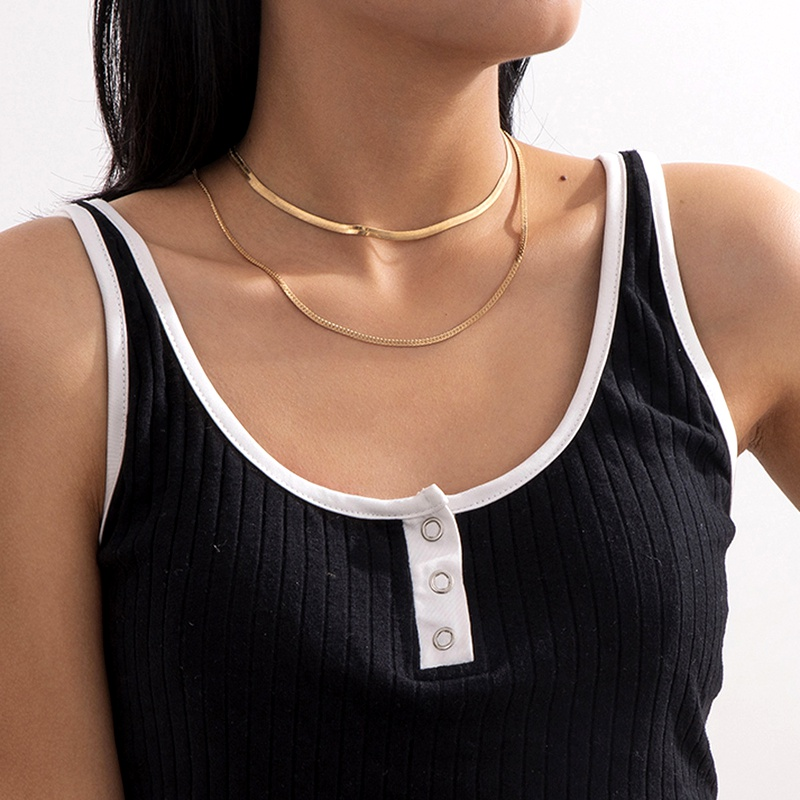 retro multilayer tassel necklace NHXR286271