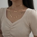 simple fashion letter star moon necklace set NHXR286279