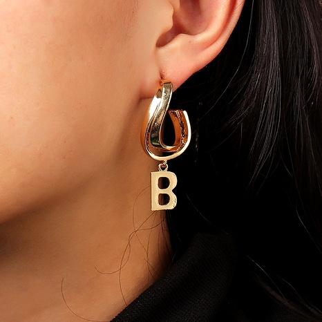 fashion letter B earrings  NHNZ286323's discount tags