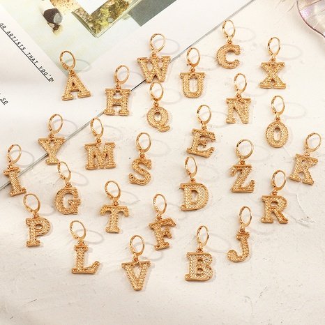 fashion metal 26 letter earrings NHNZ286324's discount tags