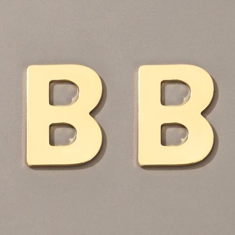 metal letter B earrings NHGY286338's discount tags