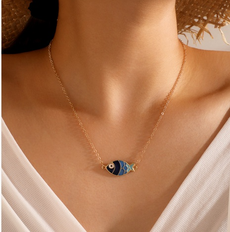 fashion fish pendant necklace  NHGY286340's discount tags