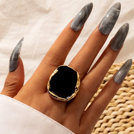 alloy irregular gold edging retro ring NHGY286350's discount tags