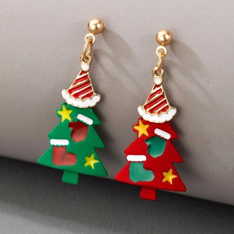 Christmas tree snowman elk santa earrings NHGY286356's discount tags
