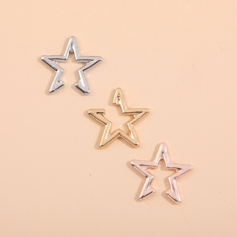 alloy five-pointed star ear clip  NHLL286359's discount tags
