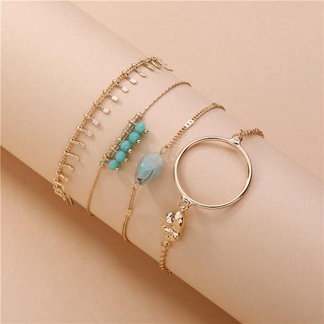 ensemble de bracelet en alliage de pierre naturelle de mode NHLU286362's discount tags
