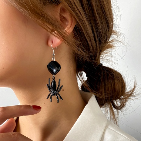 boucles d'oreilles araignée noire NHDP286364's discount tags