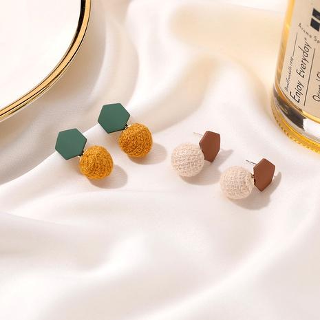 woven ball plush earrings NHDP286367's discount tags