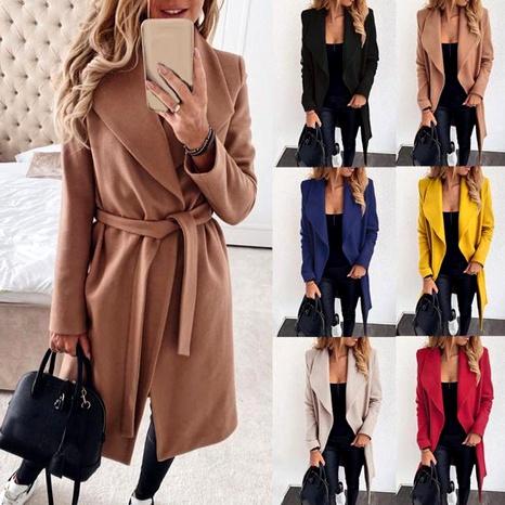 chaqueta de lana de solapa de moda NHJC287019's discount tags