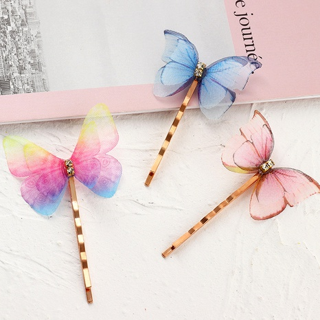 colorful butterfly hairpin  NHAU286440's discount tags
