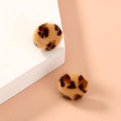 pendientes pequeños con estampado de leopardo de moda NHAN286442's discount tags