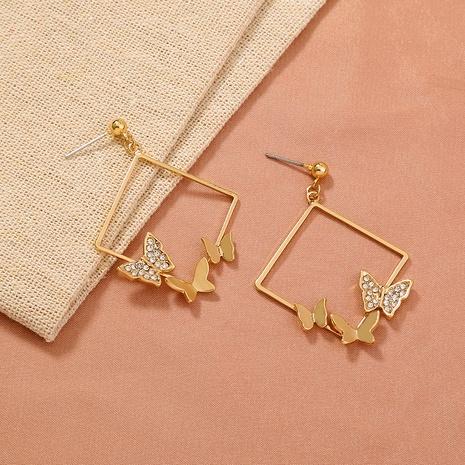 modische diamantbesetzte Schmetterlingsohrringe NHAN286445's discount tags
