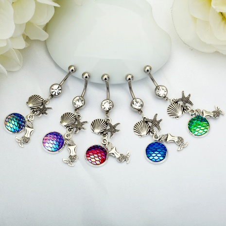 multicolor stainless steel belly button nail  NHAN286446's discount tags