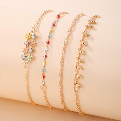 Korean Flower Metal Bracelet Set NHGY285561's discount tags