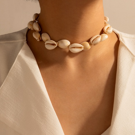fashion shell short adjustable necklace NHGY287405's discount tags