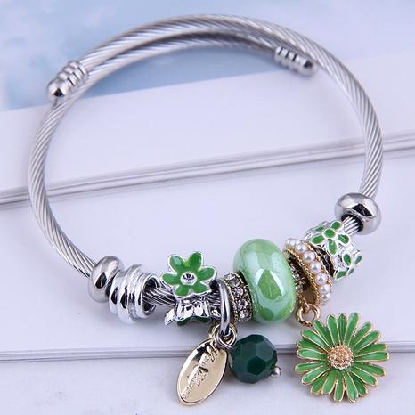 fashion metal simple daisy bracelet NHSC287402's discount tags
