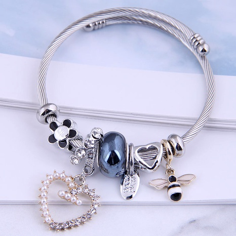 fashion metal simple heart bee multi-element bracelet NHSC287392's discount tags
