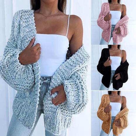chaqueta de suéter cardigan cálido casual de moda NHJG287078's discount tags
