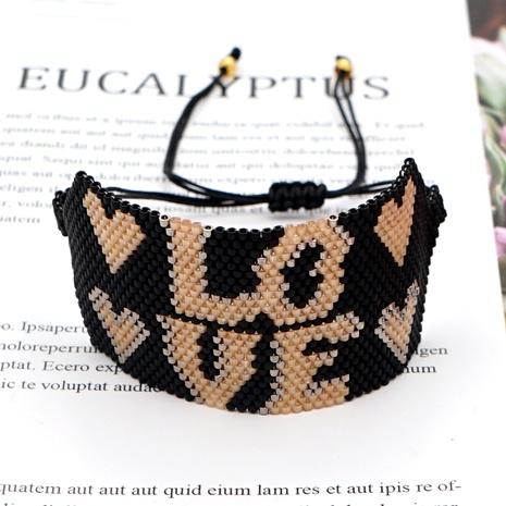 Simple Bohemia LOVE letter bracelet  NHGW286537's discount tags