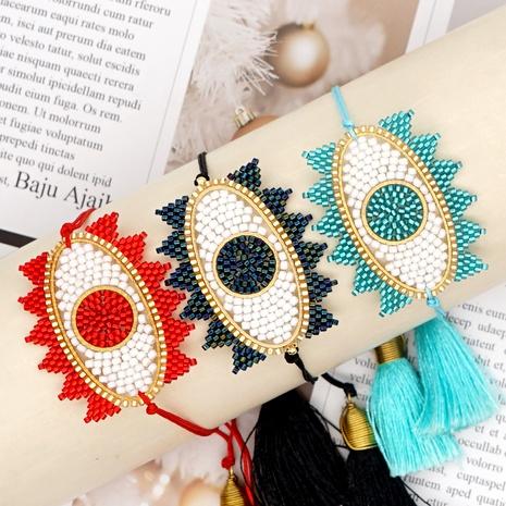 Turkish blue eyes rice bead bracelet  NHGW286549's discount tags