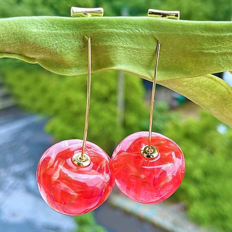 Cherries long earrings  NHYI286561's discount tags