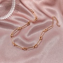 retro hiphop thick chain necklace  NHDP286588