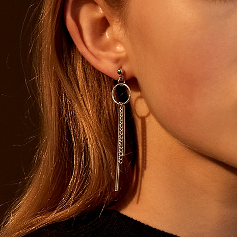 simple punk style metal long earrings  NHDP286591's discount tags