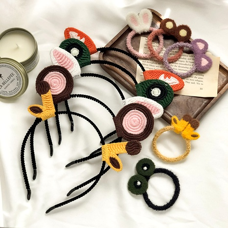 bandeau de bande dessinée corde de cheveux en peluche bandeau d'oreille de lapin NHNA286594's discount tags