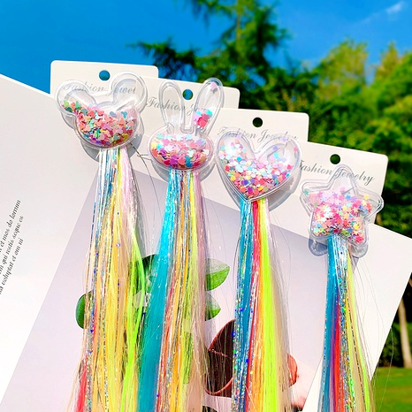 colorful wig braid unicorn butterfly cartoon hairpin NHNA286599's discount tags