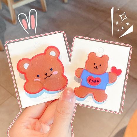 Épingle à cheveux ours mignon dessin animé NHNA286600's discount tags