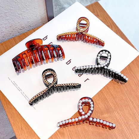 Amber Color Retro Hair Catch Clip  NHNA286605's discount tags
