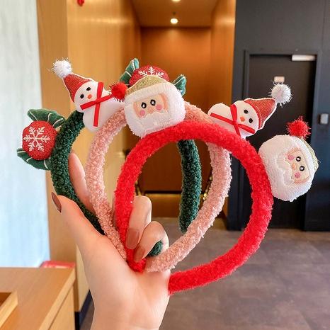 Christmas Antlers Snowman Headband NHCQ286615's discount tags