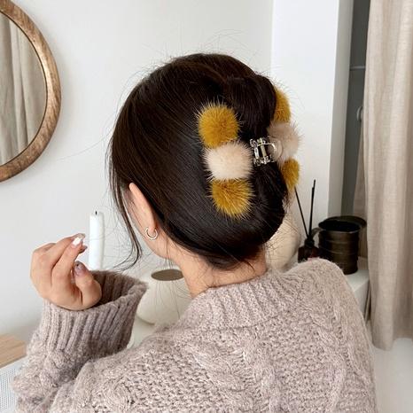 pinza de pelo de bola de pelo de visón NHCQ286619's discount tags