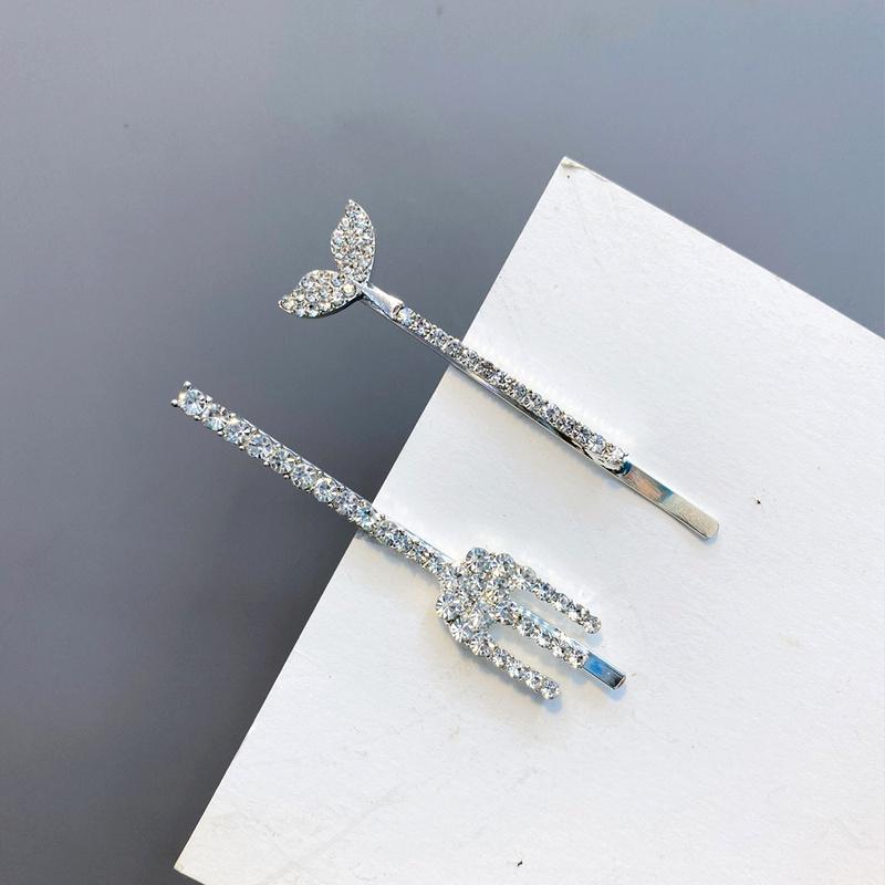 alloy diamondstudded exquisite fork fishtail hairpin  NHFS286630