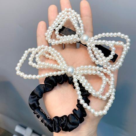 perla de tres capas bowknot hair scrunchies retro horquilla NHFS286633's discount tags